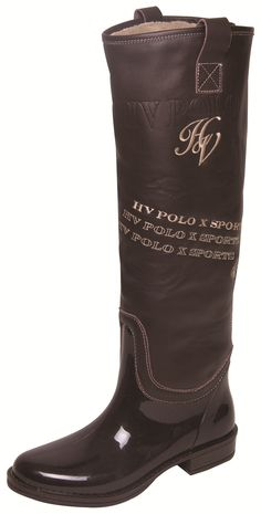 HV POLO DELUXE RUBBER/LEATHER BOOTS . Horseland