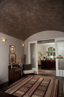 Metallic plaster barrel ceiling - eclectic - entry - minneapolis - by Textural Hues LLC