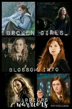 Harry Potter Texts, Harry Potter Girl, Harry Potter Pictures, Harry Potter Hogwarts, Harry Potter Ginny Weasley, Ron Weasley, Hermione Granger, Girl Power Quotes, Harry And Ginny