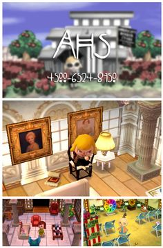 Visit the American Horror Story dream town of AHS! Meet Mayor Fiona Goode and residents Violet, Lana, and Pepper, dress in costume, enjoy treats, and find hidden secrets! - Animal Crossing New Leaf