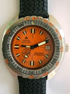 Doxa Sharkhunter US Divers Co. - The Global Knomad Vintage Dive Watches, Diving Watch, Models For Sale, Reference Images, Orange, Accessories, Clocks, Wristwatches
