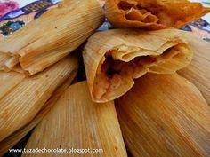 Tamales de rajas de chile con queso y papas (Chile-Cheese-Potato Tamales)