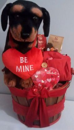 Be Mine Valentine Gift Basket for sale online Valentine Gift Baskets, Valentine's Day Gift Baskets, Valentine Day Gifts, Dry Fruit Basket, Star Events, Puppy Gifts, Ebay Sale, Spring Fever, Wine Gifts