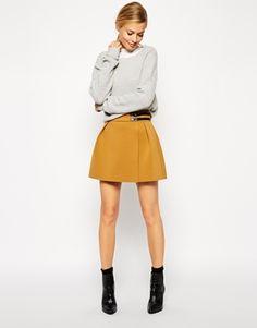 Enlarge ASOS Premium Kilt Skirt in Bonded Scuba