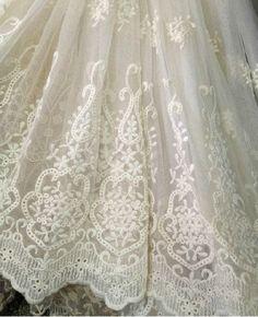 Ivory Lace Fabric Trim Vintage Lace Trim Luxury Lace Trim Ivory