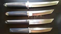 purchased these when they first came out so mine may not be identical to those pictured. Cool Knives, Knives And Tools, Knives And Swords, Armas Ninja, Japanese Blades, Katana, Combat Knives, Cold Steel, Tactical Knives