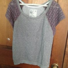 American Eagle sweater NWOT American Eagle Sweater with lace cap sleeves. Super cute and never worn!! Ask questions! I'm always willing to negotiate or bundle! American Eagle Outfitters Sweaters