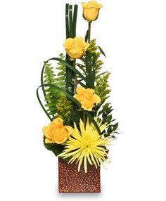 As good as gold flower arrangement in richland wa arlene s flowers