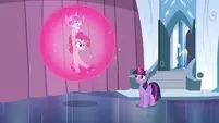 Twilight carrying Pinkie and Flurry Heart in a bubble S6E1.png (861 KB)