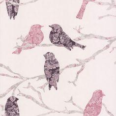 Wall Paper Option For Little Miss Wallpaperdecor Com Au Pattern Wallpaper Bird
