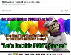 Make Money As A Puppet Spokesperson Custom Puppets, Professional Puppets, Puppet Patterns, Sock Puppets, Puppet Making, Cool Backgrounds, Your Voice, Birthday Greetings, Tour Guide