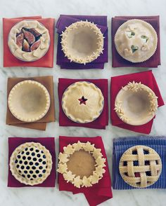 Before you bake, add a special touch to your pies -- it's the perfect way to personalize any pastry and make it stand out! Equipment Pastry brush Fork Cookie or aspic cutters Fluted pastry wheel Paring knife Scissors