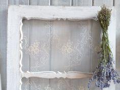 Vintage Bilderrahmen - Fensterflügel Shabby Florentiner - ein Designerstück von Krewa bei DaWanda