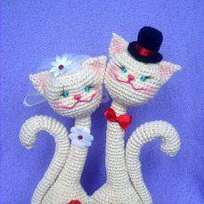 Вязание крючком котов неразлучников 199