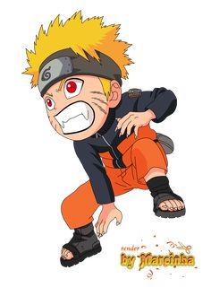 Chibi  naruto | Render Chibi Uzumaki Naruto by Marcinha20