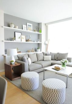 Living in an apartment, or in an older home with tiny rooms, can present a challenge: how to make your limited space seem larger. Try these 80 Stunning Modern Apartment Living Room Decor Ideas And Remodel. Small Living Rooms, Home And Living, Cozy Living, Living Area, Small Living Room Layout, Small Living Room Ideas With Tv, Living Room Layouts, Small Living Room Designs, Small Living Room Ideas On A Budget