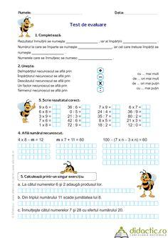 Înmulţirea, împărţirea şi ordinea efectuării operaţiilor | sfetnicul | 06.03.2012