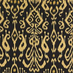 Bravado Ikat #fabric in #black from the Tea House collection. #Thibaut