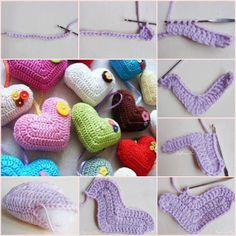 Crochet heart ♥LCH♥ with pictire instructions, what you see here. Solo esquemas y diseños de crochet: CORAZON A CROCHET