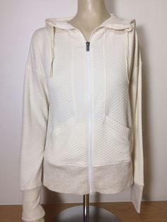 Lucy Activewear Quilted Ultimate Xtraining Ivory Jacket- NWT Sz. XS #LucyActivewear #Hoodie