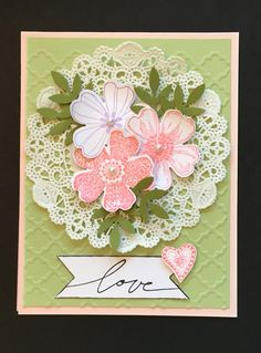 Making Greeting Cards, Greeting Cards Handmade, Embossed Cards, Stamping Up Cards, Valentine Day Cards, Creative Cards, Flower Cards, Anniversary Cards, Scrapbook Cards