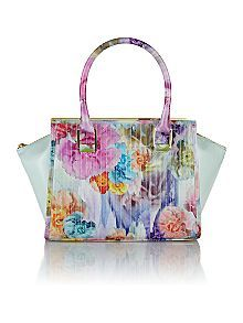 Ted Baker Large Green Floral Print Quilt Tote Bag Now £127.20 Was £159.00