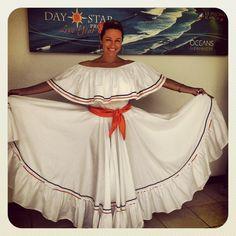 Flamenco Skirt, Indian Tribes, Full Length Skirts, Custom Dresses, Costume Dress, Skirt Fashion, Cheer Skirts, Honduras, Sewing