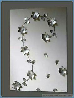 Blumen aus Teelichtern