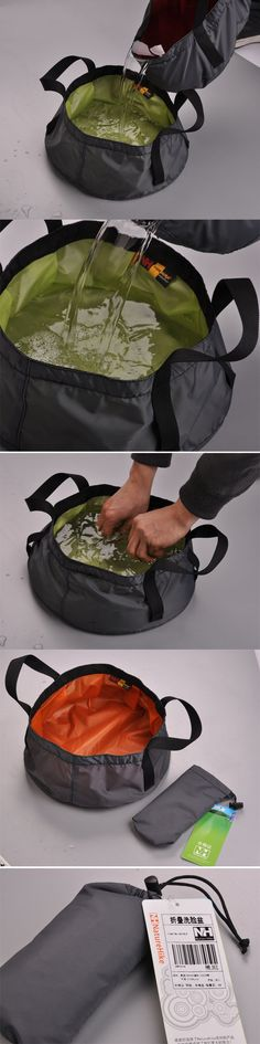 Instant water container (roll for hiking) @Mallory Bradshaw this made me think of Walter, seems like this might be useful on a hike with him!!