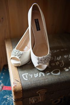 Embellished Peep Toe | Ideas & Photos | Inspiration Boards - Easy Weddings