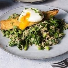 haddock poached egg with spinach quinoa smoked haddock poached egg ...