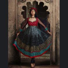 Black and Red and Teal Blue Net and Shimmer Full Sleeve Designer Salwar Kameez 16256 Indian Dresses, Indian Outfits, Indian Clothes, Punjabi Suits Online Shopping, Red And Teal, Teal Blue, Red Black, Indian Salwar Suit, Salwar Kameez Online