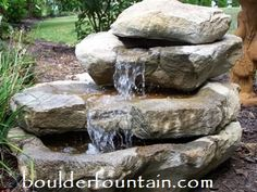Stacked Rock Falls. Great Fountain for decks, patios and in the garden. Available in two sizes. For videos and pricing visit us at www.boulderfountain.com  Made in the USA. WE SHIP 540 948-2239