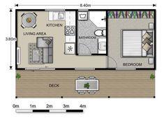 Lofty 1 Bedroom Granny Flat Designs 14 Timber Block Floor Plans Trend Home Design And Decor Small House Floor Plans, Garage House Plans, 1 Bedroom House Plans, Guest House Plans, Tiny House Cabin, Tiny House Design, Tiny Houses, Granny Flat Plans, Garage Granny Flat