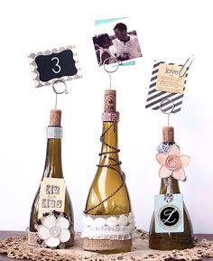 DIY Cut Wine Bottle Table Number Centerpiece