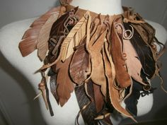 Feather Necklace by arttiiii on Etsy