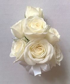 Black And White Corsage For