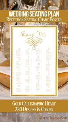 Wedding Reception Invitations Programs Seating Charts In The