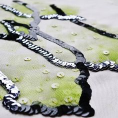 Flashback Friday...delayed. learn to make unusual sequins! www.broderiesdeluxe.com #embroideryclass #embroidery #broderies #sequins #tambour #luneville #NYC #needlework #hautecouture #handembroidery #hautecoutureembroidery