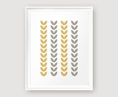 Scandinavian leaf pattern printable wall art by MoonlightPrint