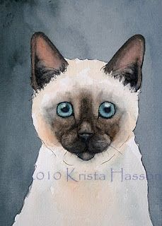 What is Krista Painting Now?: Siamese Cat and a Pug Dog done in Pen & Ink with Watercolor
