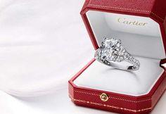 Cartier Engagement Rings A girls dream diamond *heart eyes*
