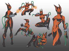Equinox doodles by spaceMAXmarine on DeviantArt Alien Character, Female Character Design, Character Design Inspiration, Character Concept, Character Art, Warframe Valkyr, Warframe Art, Warframe Frames, Alien Concept Art