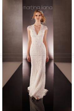 Martina Liana Keyhole  Back Wedding  Dress Style  628
