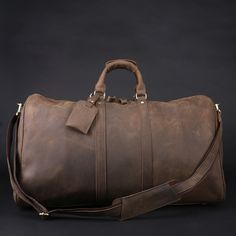 Men's Handmade Vintage Leather Travel Bag / Luggage / Duffle Bag / Sport Bag / Weekend Bag