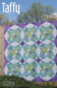 angular quilts | Taffy is a mix of Lazy Angle Blocks & Traditional Blocks.