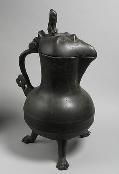 Covered jug, copper alloy, late 14th century. German or South Nederlandish