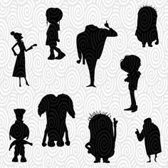 Cricut Template despicable me Minion silhouette no fill PNG Files - Cutting Machines - scrapbooking - Silhouette Studio - vinyl stencil