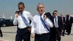 Le président Barack Obama marchant avec le Premier ministre Benjamin Netanyahu après son arrivée en Israël.  20 mars 2013 - Photo: Avi Ohayan / GPO