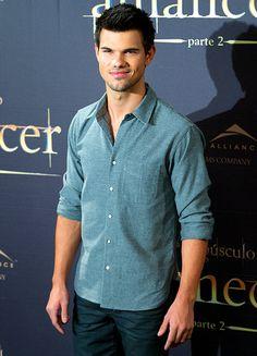 Taylor Lautner promoting The Twilight Saga: Breaking Dawn -- Part 2 in Madrid, Spain Nov. 15.
